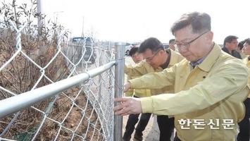 """끝나지 않은 ASF 공포…김 장관 """"방역 철저해야"""""""
